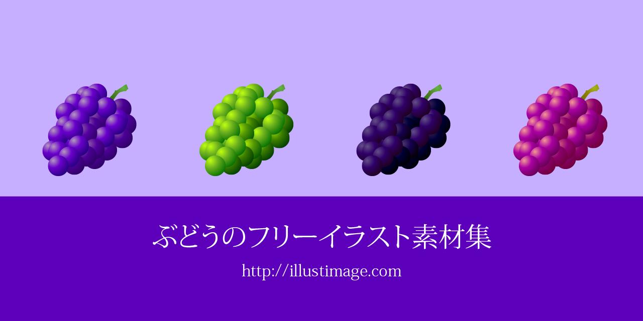 まとめブドウのフリーイラスト素材集イラストイメージ