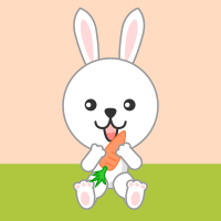 可愛いウサギのフリーイラスト素材