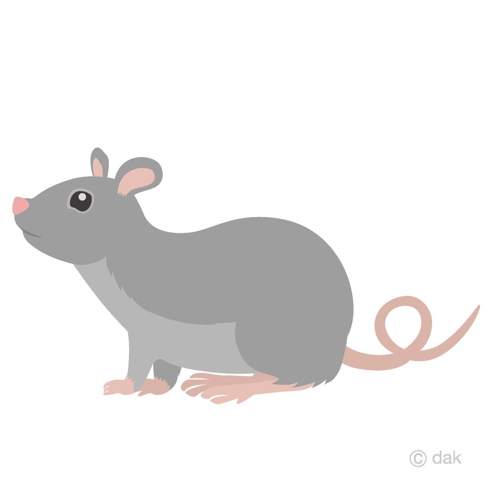 ネズミ横の無料イラスト素材イラストイメージ