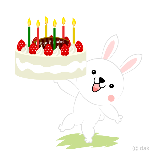 Rabbit with cake