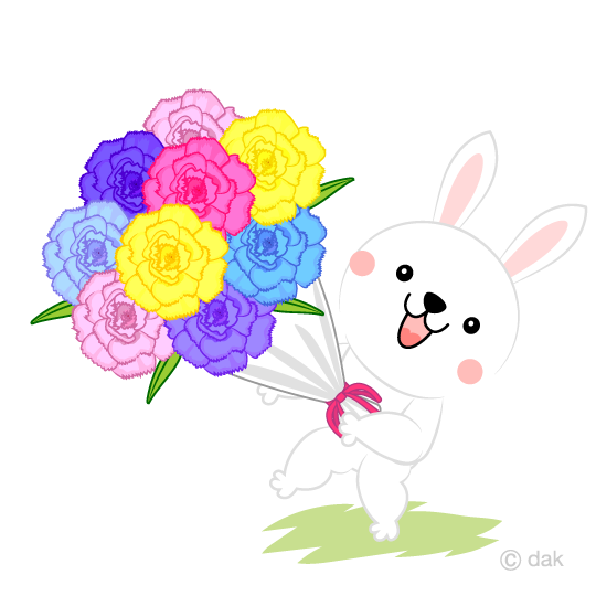 Bouquet and rabbit