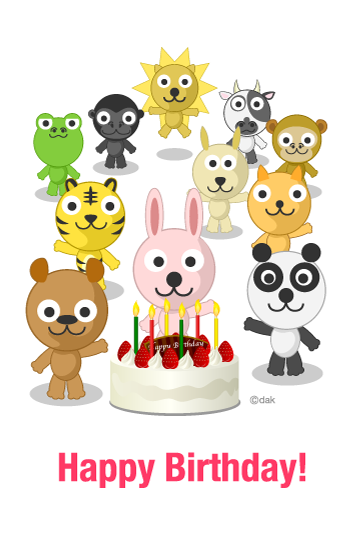 Animals of birthday party