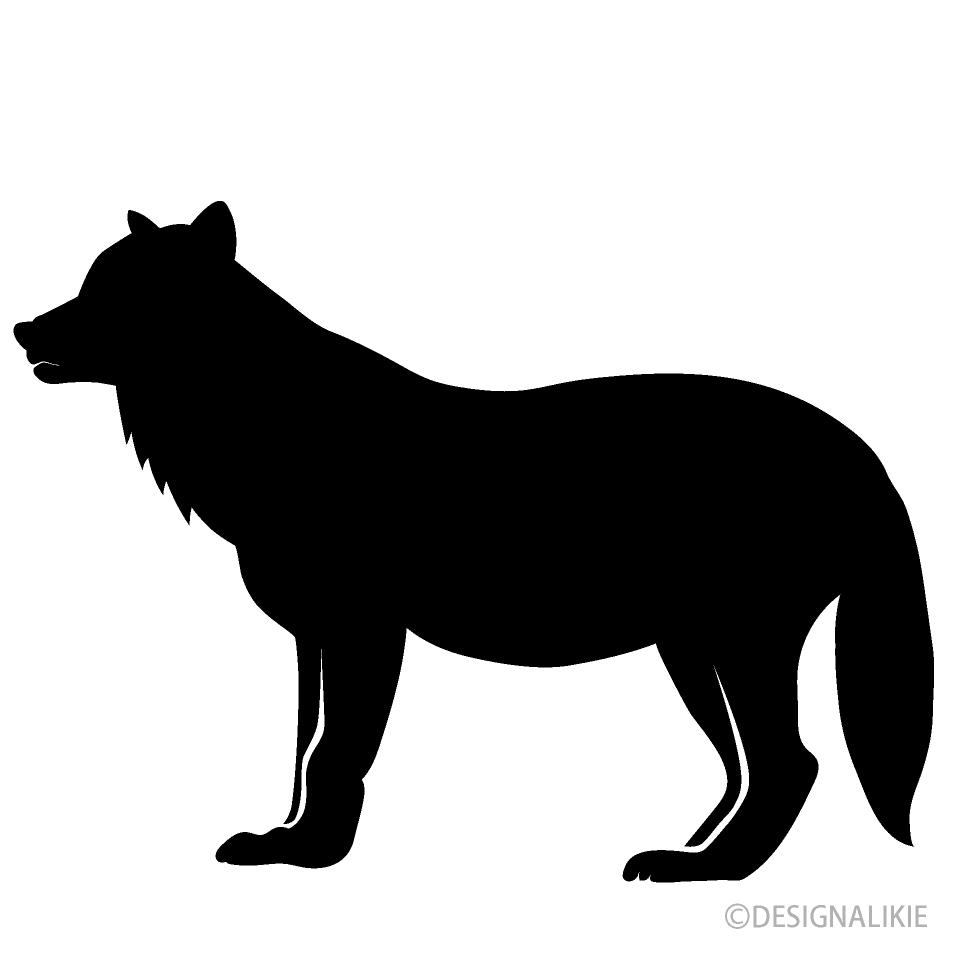 狼シルエットイラストのフリー素材 イラストイメージ