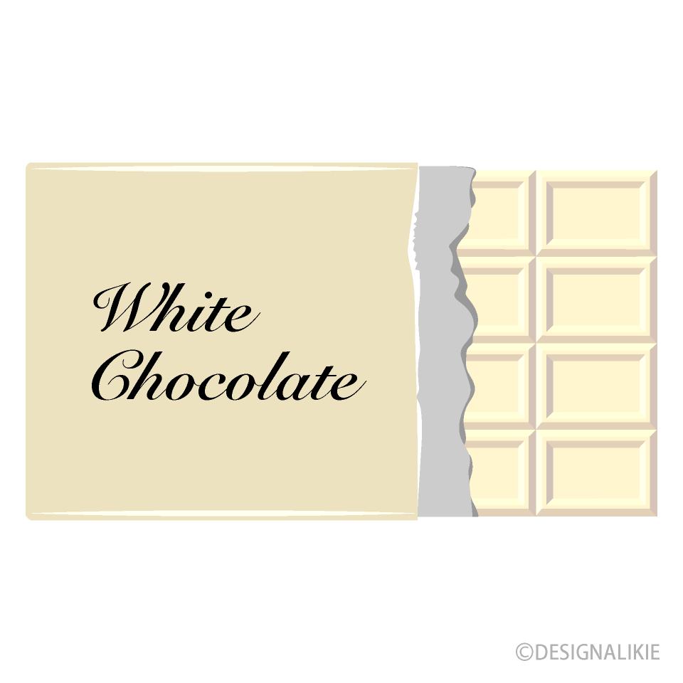 ホワイトチョコレートイラストのフリー素材 イラストイメージ
