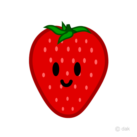 Cute strawberry character