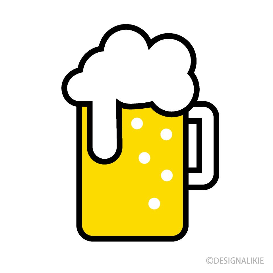 かわいいビールマークの無料イラスト素材 イラストイメージ