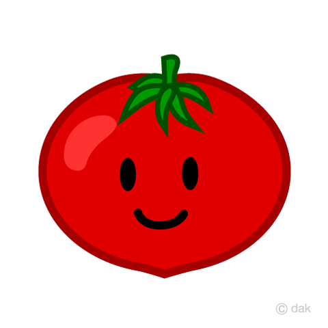 Cute tomato character