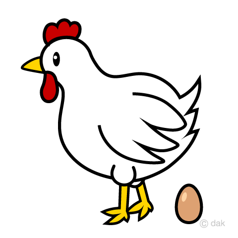 Chicken that lays eggs