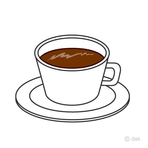 シンプルなコーヒーカップの無料イラスト素材イラストイメージ