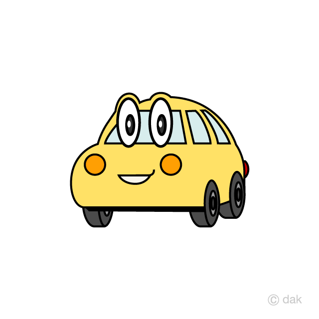 Cute light car character