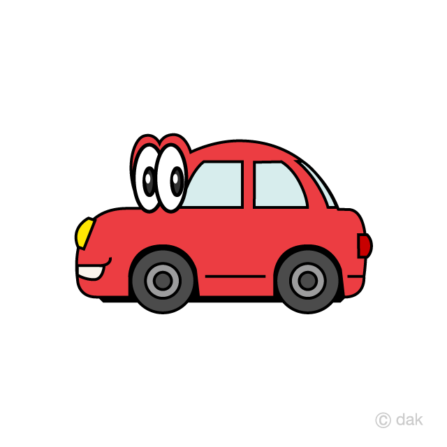 Red car character seen from the side