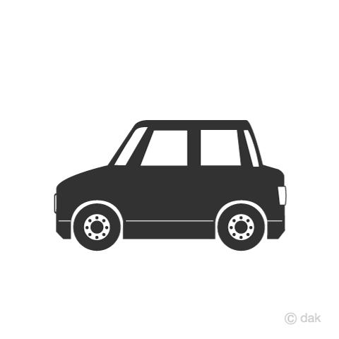 車シルエットの無料イラスト素材イラストイメージ