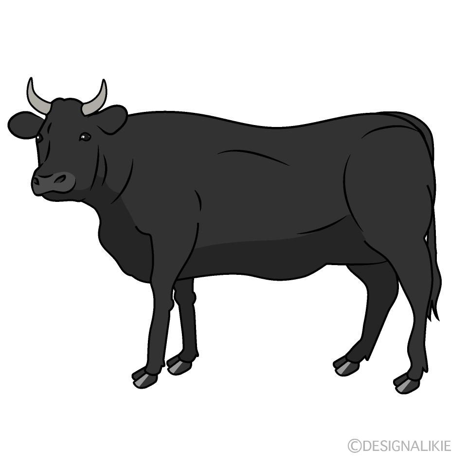 黒毛和牛の無料イラスト素材|イラストイメージ