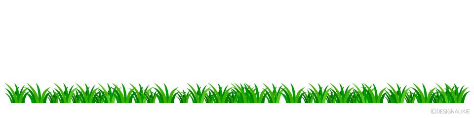 緑草ラインイラストのフリー素材 イラストイメージ