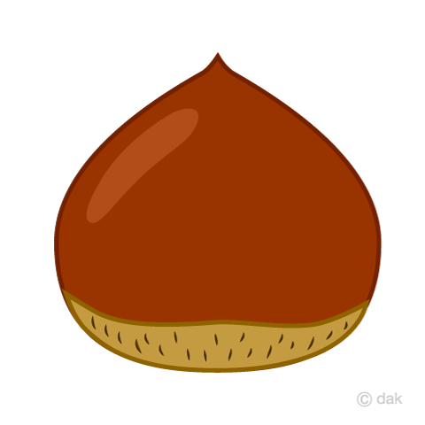 秋の味覚の栗の無料イラスト素材イラストイメージ