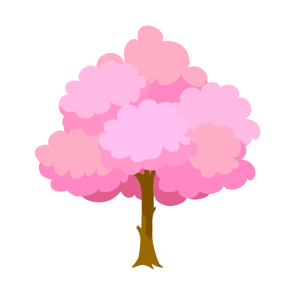 Cherry tree in full bloom clip art