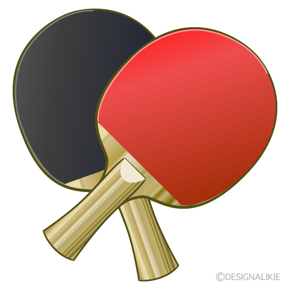 2本の卓球ラケットの無料イラスト素材 イラストイメージ