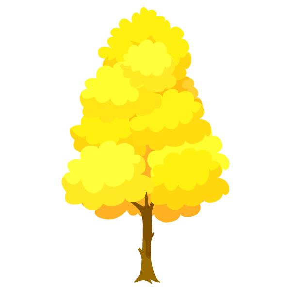 イチョウの木の無料イラスト素材イラストイメージ