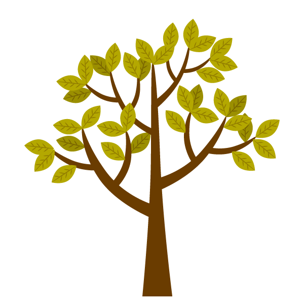 Late autumn tree clip art