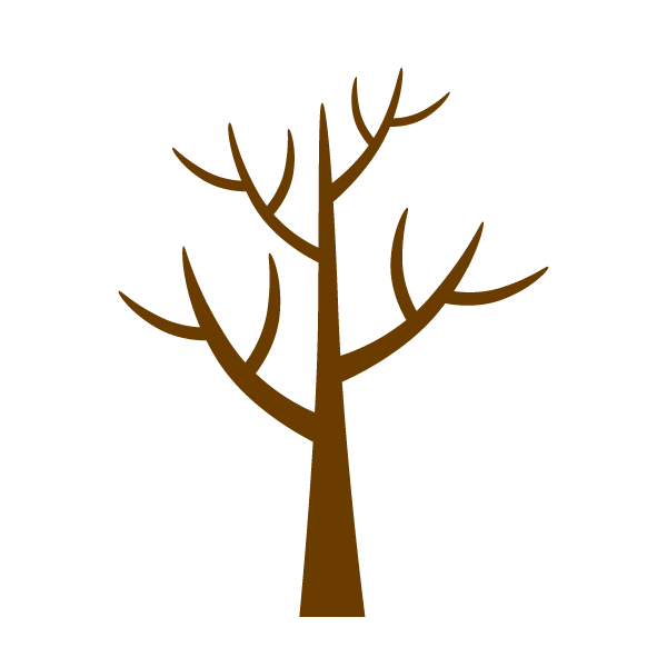 Leaf scattered tree clip art