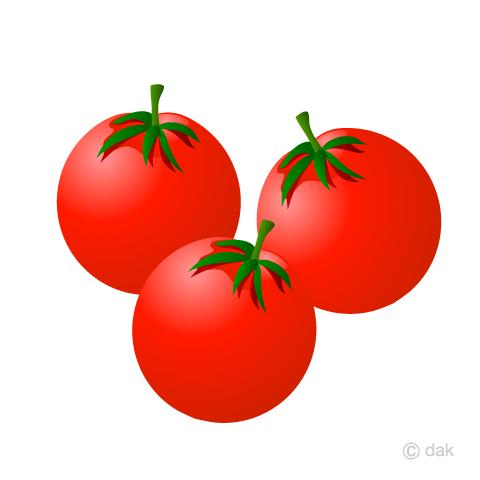 ミニトマトの無料イラスト素材|イラストイメージ