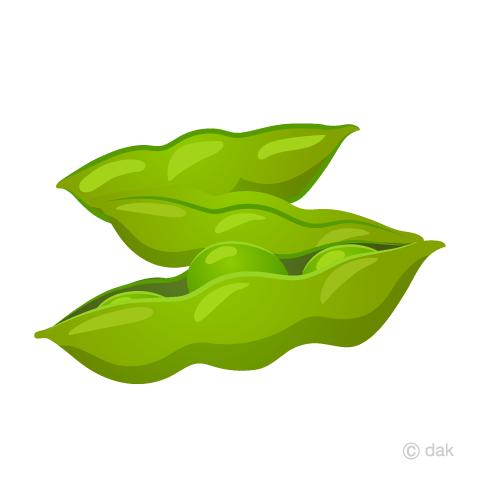 枝豆の無料イラスト素材イラストイメージ