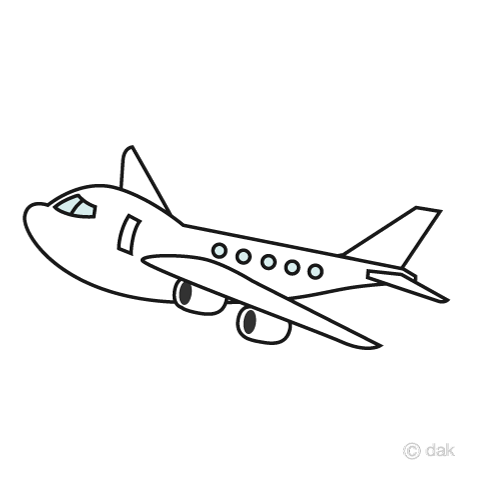 かわいい飛行機. 無料イラスト素材ダウンロード用