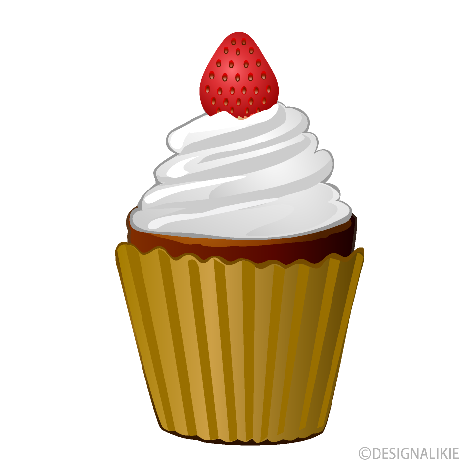 Strawberry cupcake clip art