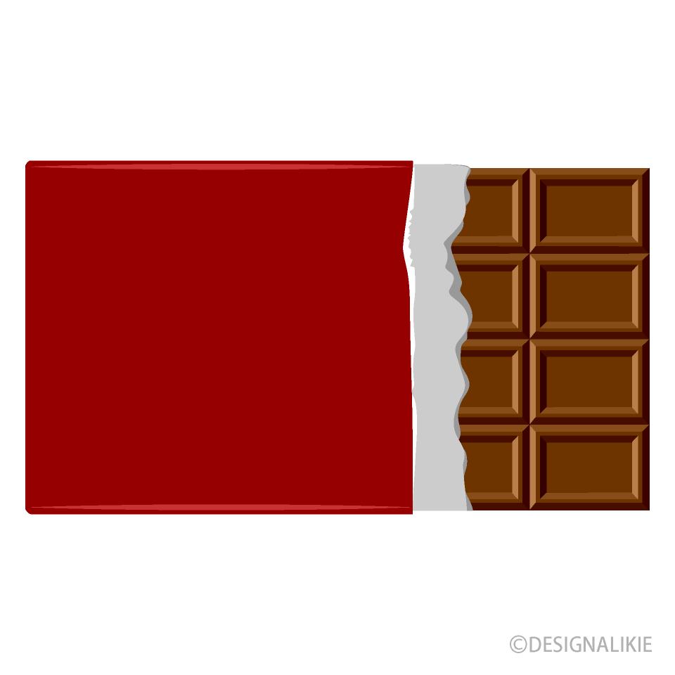 板チョコイラストのフリー素材 イラストイメージ