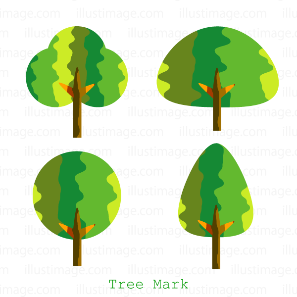 Fashionable tree mark clip art
