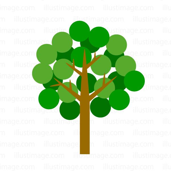 ポップな木の無料イラスト素材イラストイメージ