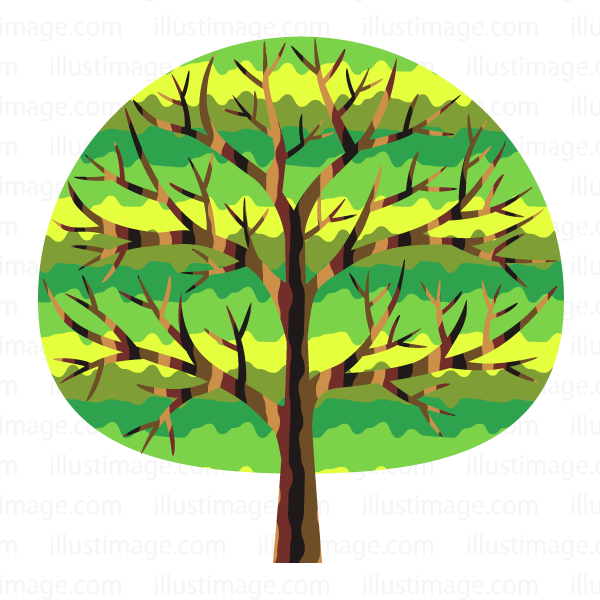 Fashionable tree clip art