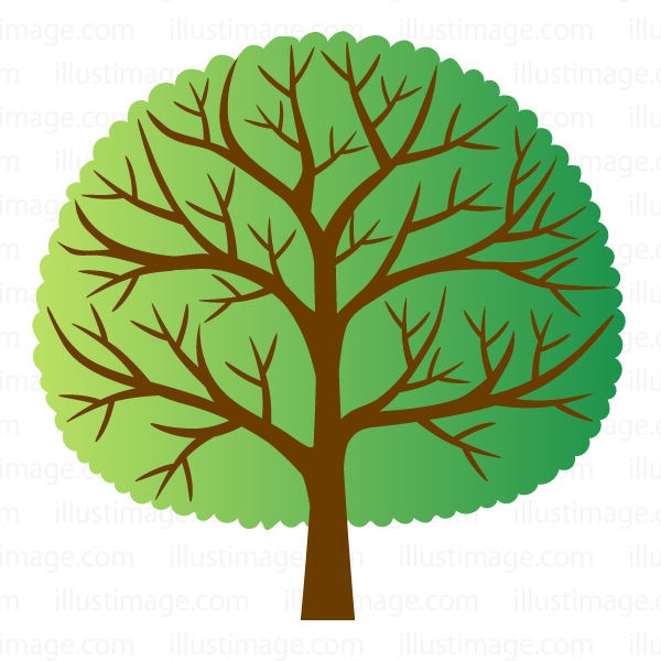 Simple tree clip art