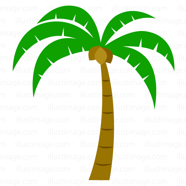 Simple palm tree clip art