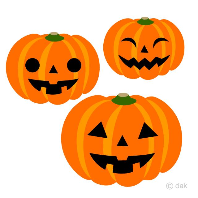 可愛いハロウィンかぼちゃの無料イラスト素材イラストイメージ