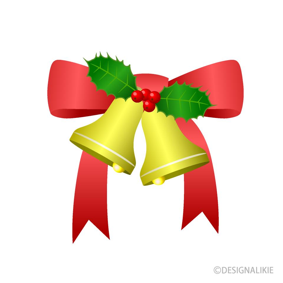 クリスマスのベルの無料イラスト素材イラストイメージ