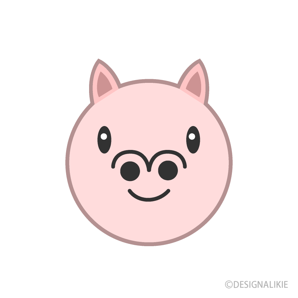 Face of cute pig