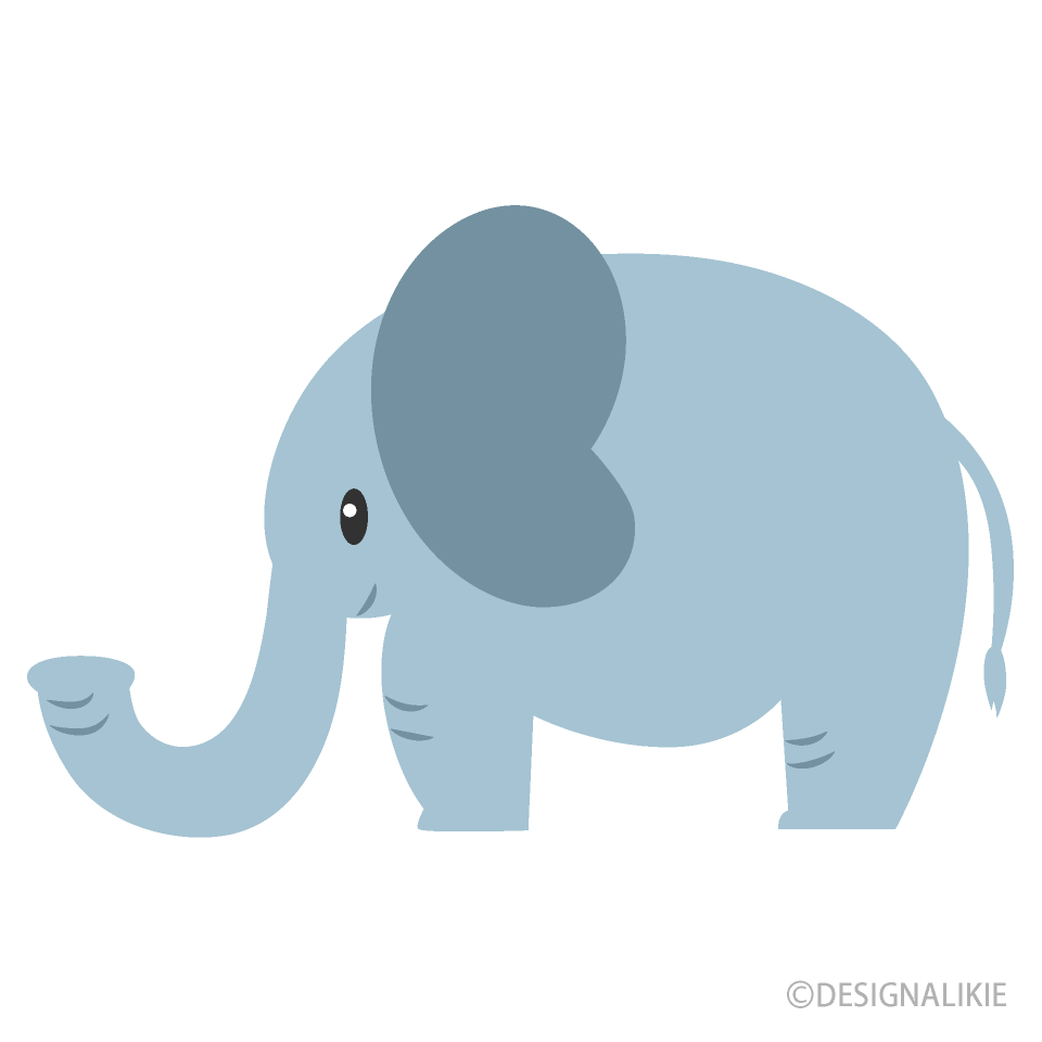 Á�わいいゾウの無料イラスト素材|iiイラストイメージ