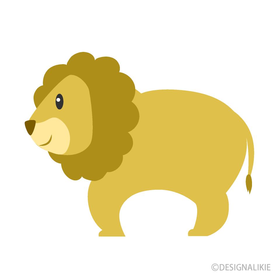 可愛いライオンの無料イラスト素材イラストイメージ