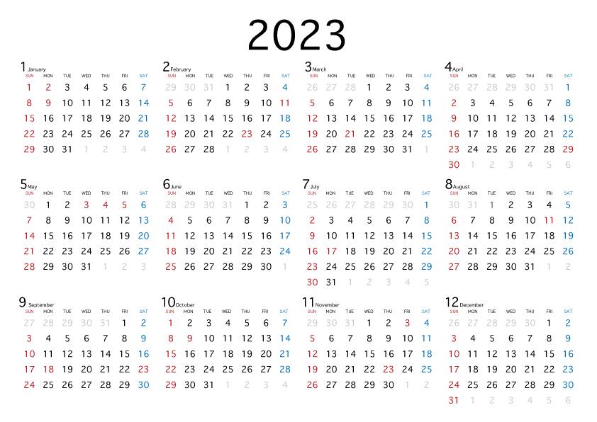 2021 年度 カレンダー