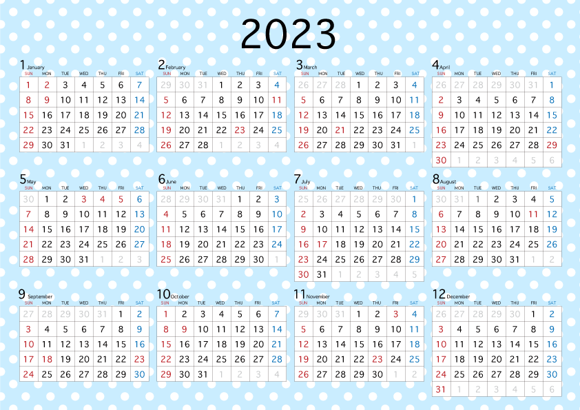 vertical year 2019 calendar