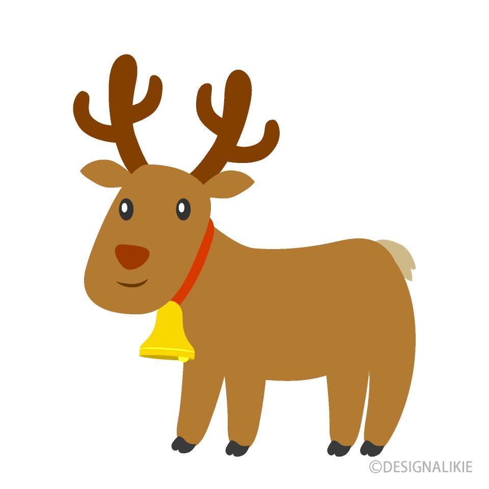 クリスマスのトナカイの無料イラスト素材|イラストイメージ