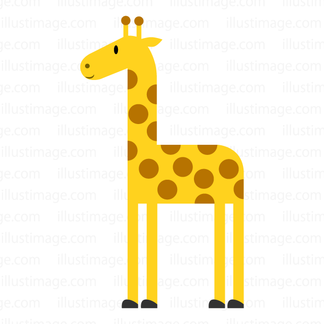 Giraffe of simple design