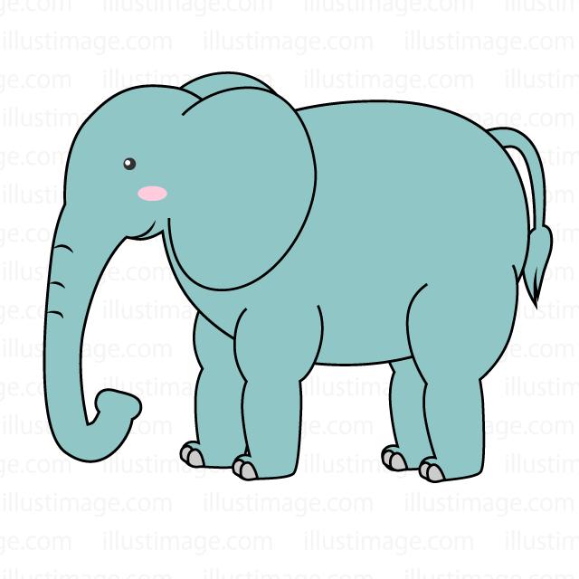 可愛いゾウの無料イラスト素材イラストイメージ