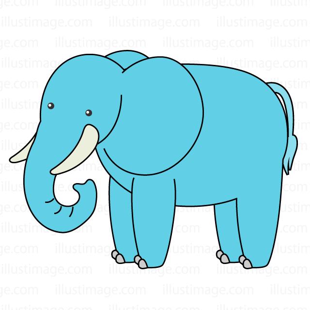 かわいい象さんの無料イラスト素材イラストイメージ