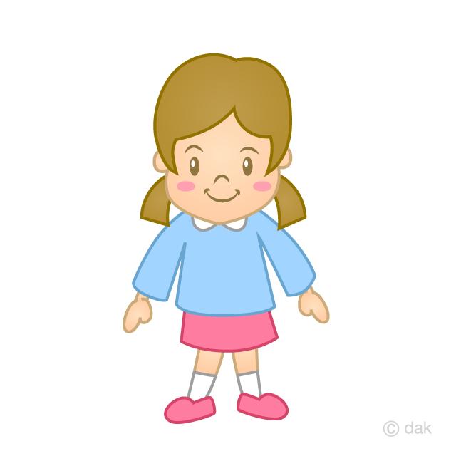 幼稚園の女の子の無料イラスト素材 イラストイメージ