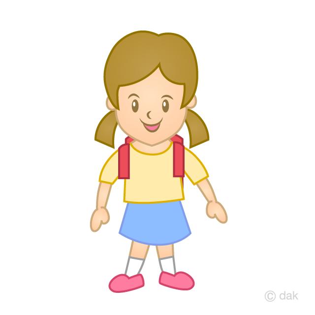 小学生の女の子の無料イラスト素材イラストイメージ