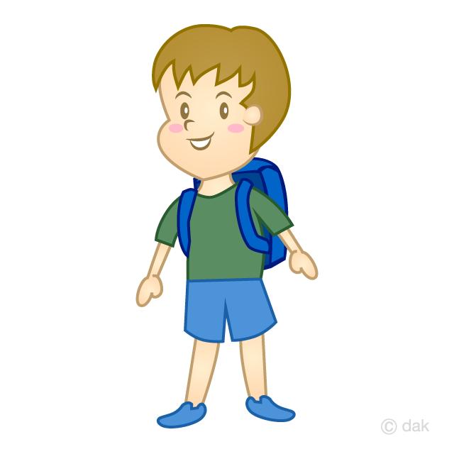 小学生の男の子の無料イラスト素材イラストイメージ