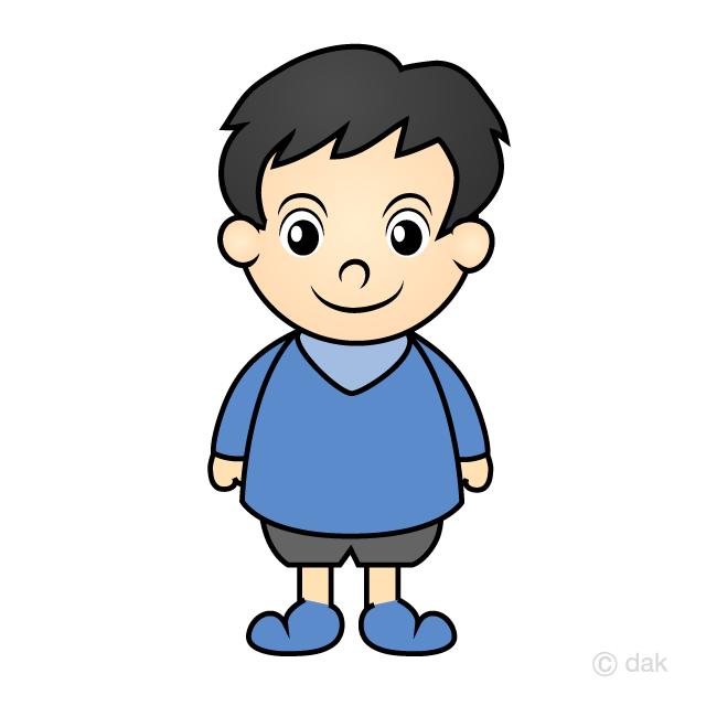 小さなかわいい男の子の無料イラスト素材イラストイメージ