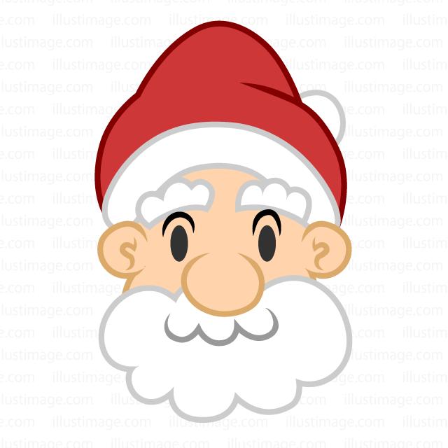 サンタさんの顔の無料イラスト素材 イラストイメージ